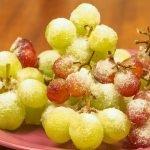 uvas glaçadas
